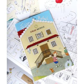 Kinder Mühlen-Malbuch