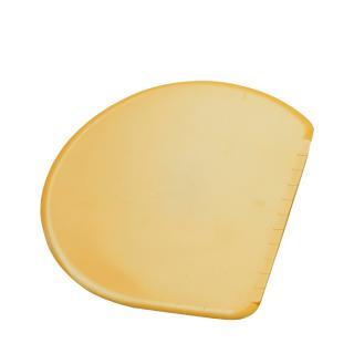 Teigkarte flexibel, halbrund 15,5x12cm gelb