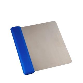 Teigabstecher blau, flexibel, biegsam, Kunststoffgriff 12x11cm