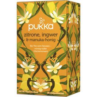 PUKKA Zitrone, Ingwer & Manukahonig Tee 20 Btl.
